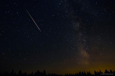"""""""Even the falling star does not hold on to the sky...when it is time...it simply lets go. Incinerated, it fades away.."""" (~April Ring)  Single exposure capture of Perseid meteor taken above Sacramento valley. The colors in the meteor streak are not an effect of Photoshop."""